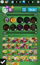 Plants vs. Zombies: Heroes Android View and customize decks.