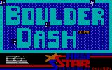 Super Boulder Dash PC Booter Boulder Dash Title Screen (PCjr)