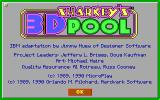 Sharkey's 3D Pool DOS Credits