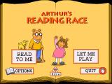 Arthur's Reading Race Windows 3.x Main menu.