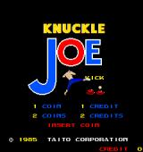 Knuckle Joe Arcade Title Screen