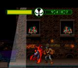Todd McFarlane's Spawn: The Video Game SNES Beating down some criminals