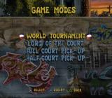 Street Hoops PlayStation 2 The game modes selection screen