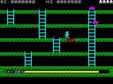 Digger Dan ZX Spectrum Not Manic Mainer. It's a symbol representing danger when crossing over a trapped monster. It will cost a player's life.