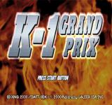 K-1 Grand Prix PlayStation Title screen (US).