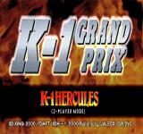 K-1 Grand Prix PlayStation One of the game modes.