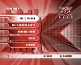 The X Factor Sing PlayStation 2 The main menu