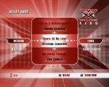 The X Factor Sing PlayStation 2 The song selection screen is used in all options. Left/Right arrow keys move between difficulty, song, and song length. Up/Down changes the selection