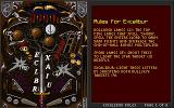 Epic Pinball DOS Rules of Excalibur