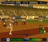 International Track & Field 2000 PlayStation Javelin Throw.
