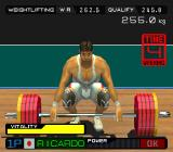International Track & Field 2000 PlayStation Select weight and then... four seconds left. Hurry up.