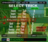 International Track & Field 2000 PlayStation Women's Diving Springboard 3 Meters. Select trick.