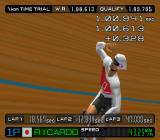 International Track & Field 2000 PlayStation 1km Time Trial. Celebrating.