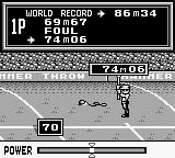 Track & Field Game Boy 74m, not bad.