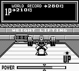 Track & Field Game Boy Weight Lifting. Up!