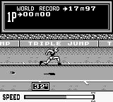 Track & Field Game Boy Triple Jump - the beginning.