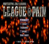 Professional Underground League of Pain PlayStation Main menu.