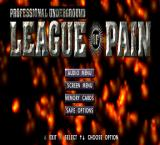 Professional Underground League of Pain PlayStation Options.