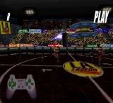 Professional Underground League of Pain PlayStation LA Lasers vs Leningrad Reds. Viewing the goal replay.