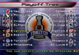 NHL Blades of Steel 2000 PlayStation Playoffs mode. Playoff Tree.