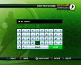Gaelic Games: Football PlayStation 2 Creating a player profile. <br>names of a decent length are allowed