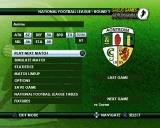 Gaelic Games: Football PlayStation 2 Playing a full season: This is the team setup screen