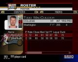 NBA 2K3 PlayStation 2 Roster Manager: There are statistics for every player and a small picture too