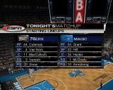 NBA 2K3 PlayStation 2 Playing a full season: This is the first game and it starts with a view of the arena while the commentators talk about the game and the players