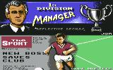 1st Division Manager Commodore 64 Title Screen