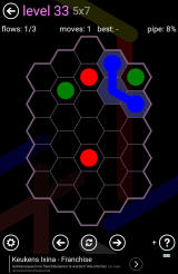 Flow Free: Hexes Android A grid with an irregular shape