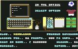 1st Division Manager Commodore 64 Main Menu