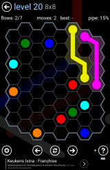 Flow Free: Hexes Android Solving a large puzzle.