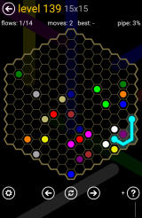 Flow Free: Hexes Android One of the largest board layouts