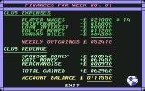 1st Division Manager Commodore 64 Weekly Finances
