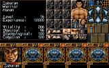 Ishar 3: The Seven Gates of Infinity DOS Character screen