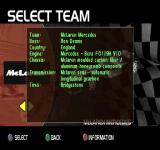 F1 Racing Championship PlayStation Info about McLaren Mercedes.