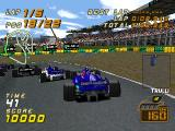 F1 Racing Championship PlayStation Trying different camera views.