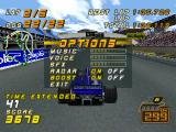 F1 Racing Championship PlayStation Options during the race.