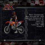 MX Superfly Featuring Ricky Carmichael PlayStation 2 Freestyle<br>Racer selection screen