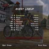 MX Superfly Featuring Ricky Carmichael PlayStation 2 Freestyle: Lining up for a race on the Boot Camp circuit