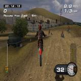 MX Superfly Featuring Ricky Carmichael PlayStation 2 Freestyle: Racing around the circuit the game tells the player when they set a new personal record such as this 6 foot jump