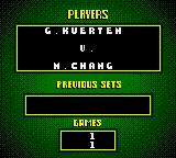 All Star Tennis 2000 Game Boy Color Gustavo Kuerten vs Michael Chang.