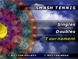 All Star Tennis '99 PlayStation Smash Tennis menu.