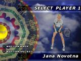 All Star Tennis '99 PlayStation One of the female players.