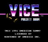 Vice: Project Doom NES North American Title Screen