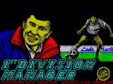 1st Division Manager ZX Spectrum Title Screen