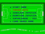 1st Division Manager ZX Spectrum Options