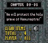 The Mummy Game Boy Color Chapter 08-01. Mysterious men in black suddenly attack...!