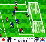 International Superstar Soccer 99 Game Boy Color One more try. And the ball hits the pole...