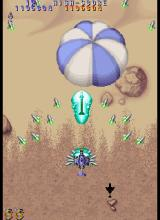 Twin Cobra II  Arcade Parachute with enemy vehicles